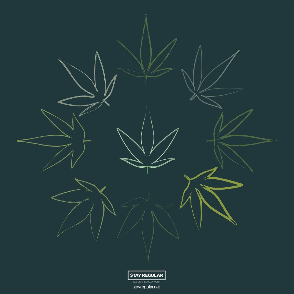 9 Free Cannabis Leaves